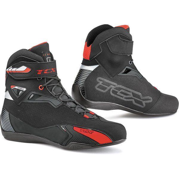 Cizme Moto Scurte/Urban Tcx Ghete Moto Sport/Touring RUSH Black/Red 2021