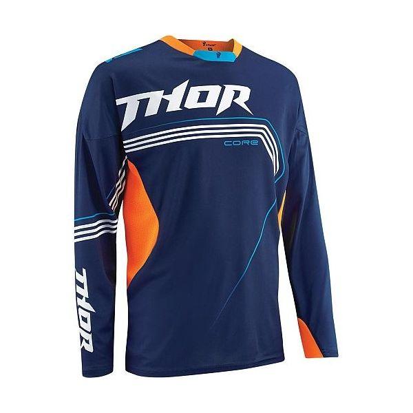 Tricouri MX-Enduro Thor TRICOU  S5 CORE BEND ALBASTRU/PORTOCALIU MD