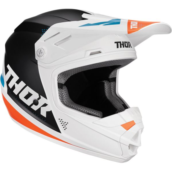 Casti MX-Enduro Copii Thor Casca Copii Sector Blade S20 White/Aqua
