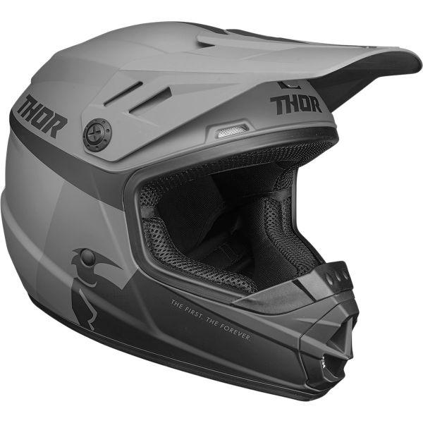 Casti MX-Enduro Copii Thor Casca MX Copii Sector Racer Negru Mat/Gri 2020