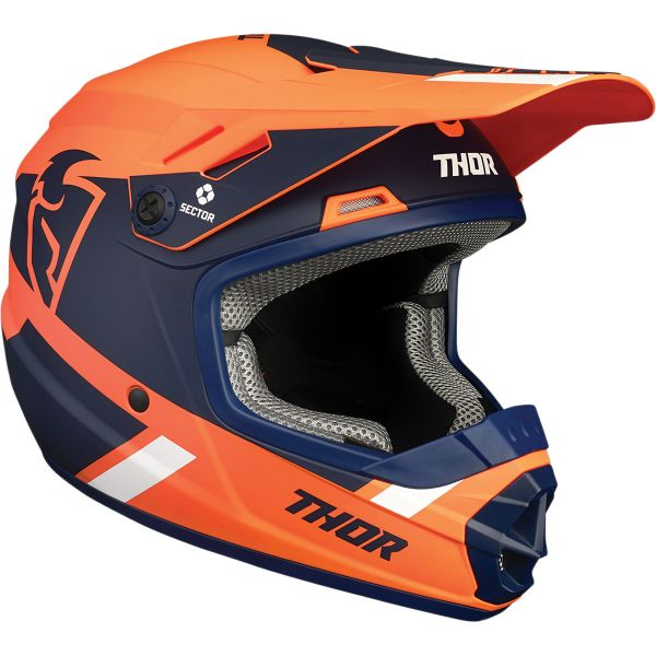Casti MX-Enduro Copii Thor Casca MX Copii Sector Split MIPS Multicolor/Portocaliu 2020