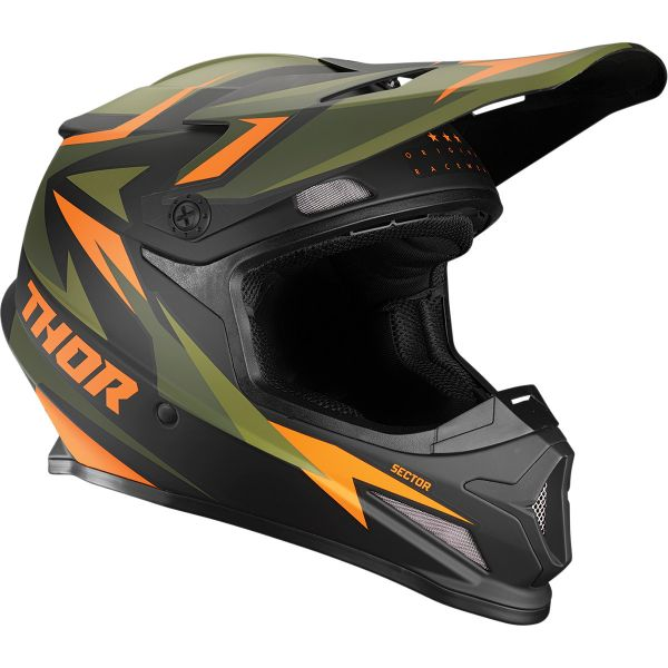 Casti MX-Enduro Thor Casca MX Sector Warship Multicolor/Portocaliu 2020