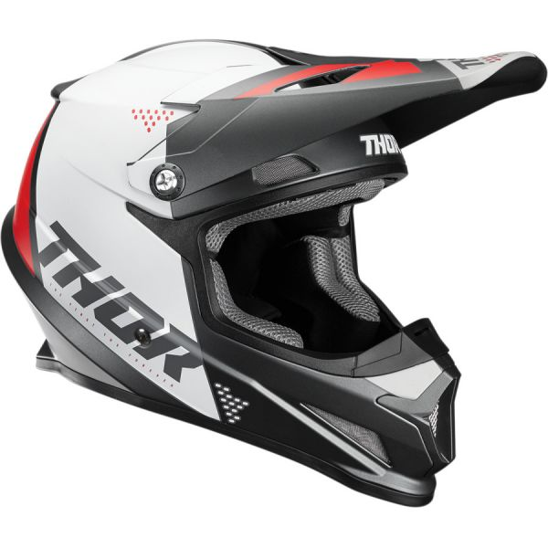 Casti MX-Enduro Thor Casca Sector Blade S20 White/Black/Red