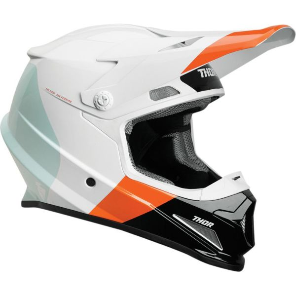 Casti MX-Enduro Thor Casca Sector Bomber MIPS White/Red Orange S9