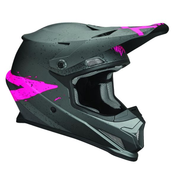 Casti MX-Enduro Thor Casca Sector Hype Charcoal/pink