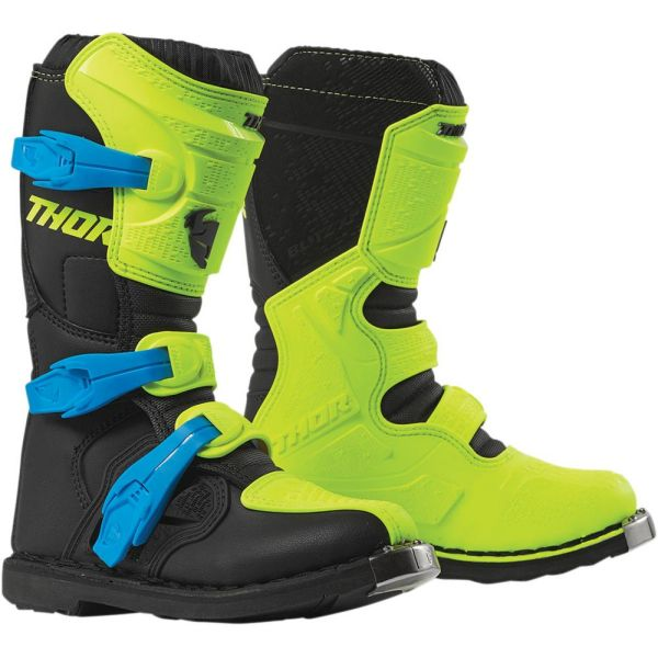 Cizme MX-Enduro Copii Thor Cizme Blitz XP Acid/Black S9 Copii