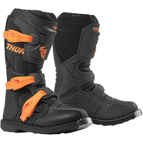 Cizme MX-Enduro Copii Thor Cizme Blitz XP Black/Orange S9 Copii