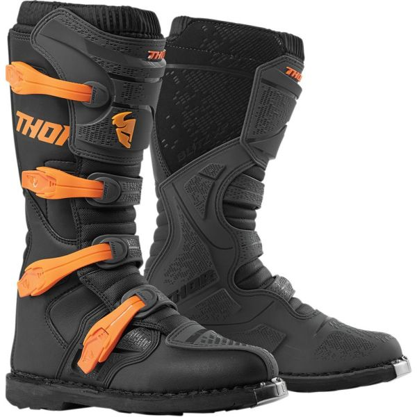 Cizme MX-Enduro Thor Cizme Blitz XP Black/Orange S9