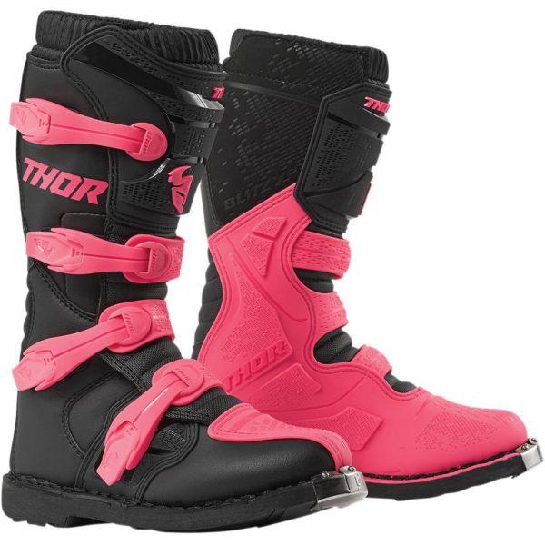 Cizme MX-Enduro Thor Cizme Blitz XP Black/Pink S9 Dama