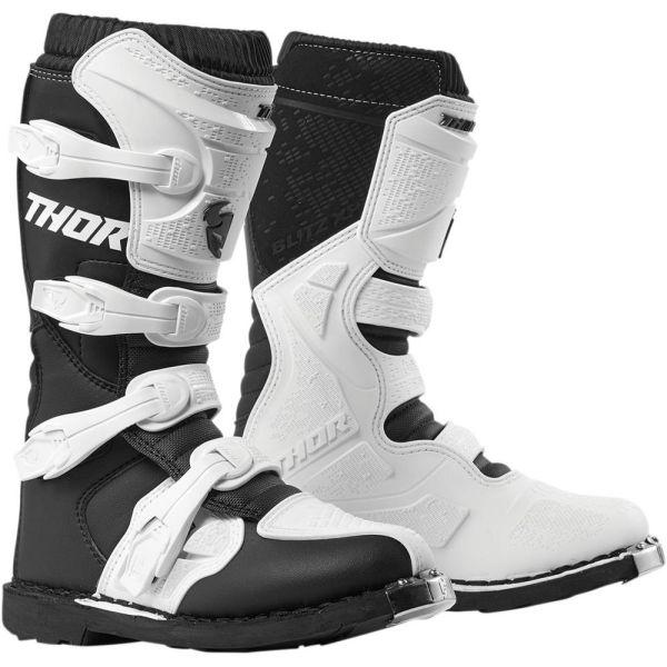 Cizme MX-Enduro Thor Cizme Blitz XP Black/White S9 Dama