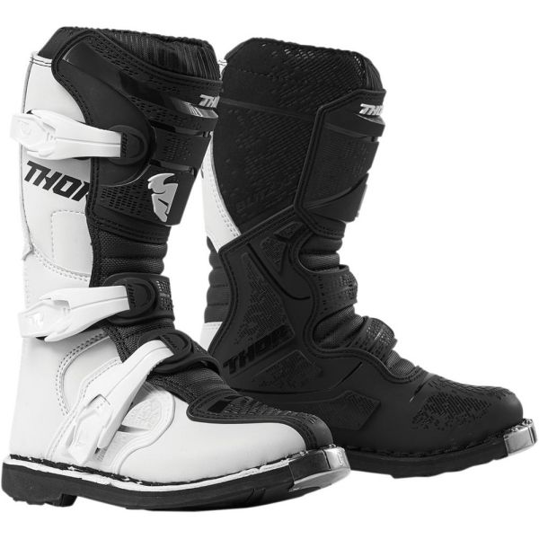 Cizme MX-Enduro Copii Thor Cizme Blitz XP White/Black S9 Copii