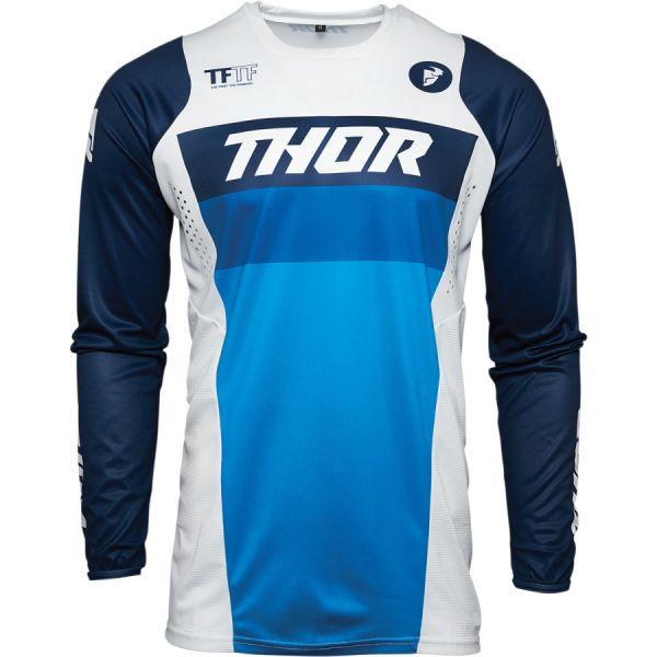 Combo MX Enduro Thor Combo Pantaloni + Tricou Pulse Racer Alb/Albastru 2021