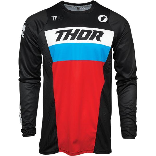 Combo MX Enduro Thor Combo Pantaloni + Tricou Pulse Racer Multicolor Rosu 2021