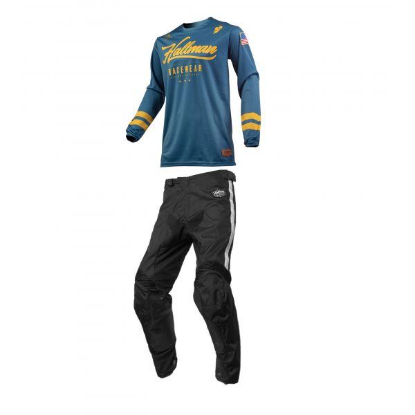 Combo MX Enduro Thor Combo Tricou + Pantaloni Hallman Hopetown S9