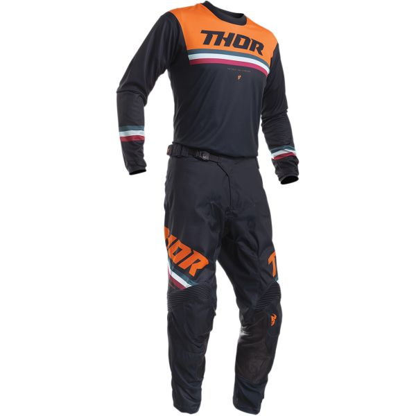 Thor Combo Tricou + Pantaloni Pulse Pinner Midnight/Orange S20