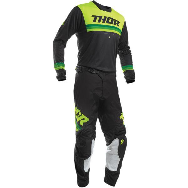 Combo MX Enduro Thor Combo Tricou + Pantaloni Pulse Pinner S20 Black/Acid