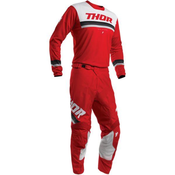 Combo MX Enduro Thor Combo Tricou + Pantaloni Pulse Pinner S20 Black/Red