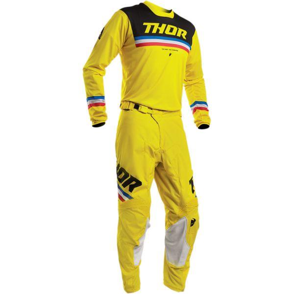Combo MX Enduro Thor Combo Tricou + Pantaloni Pulse Pinner S20 Black/Yellow