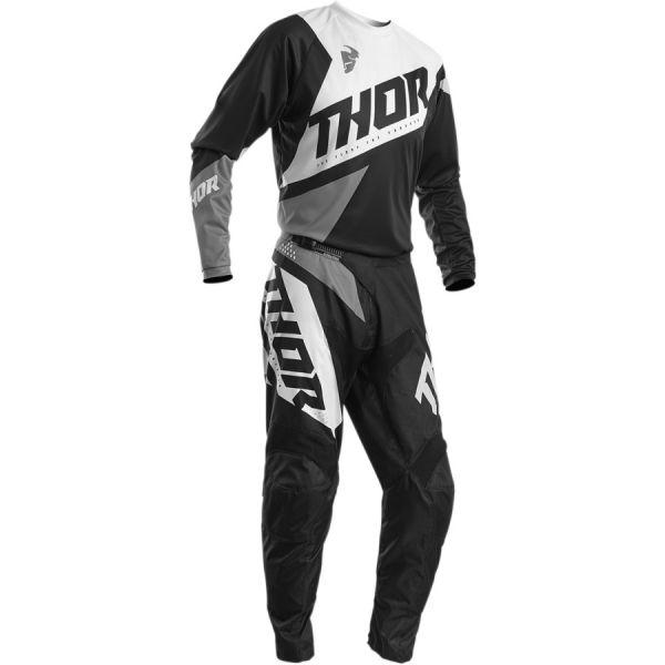 Combo MX Enduro Thor Combo Tricou + Pantaloni Sector Blade S20 Black/Gray