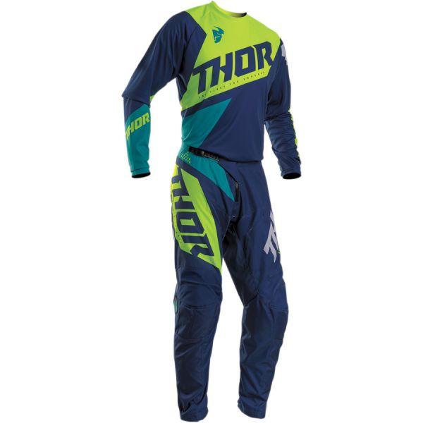 Combo MX Enduro Thor Combo Tricou + Pantaloni Sector Blade S20 Navy/Acid