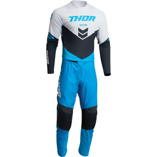 Combo MX Enduro Thor Combo Tricou+Pantaloni Sector Chev Blue/Midnight 2022