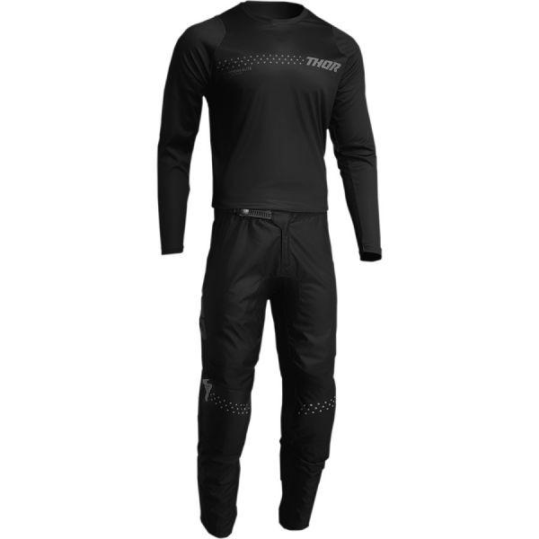 Combo MX Enduro Thor Combo Tricou+Pantaloni Sector Minimal Black 2022