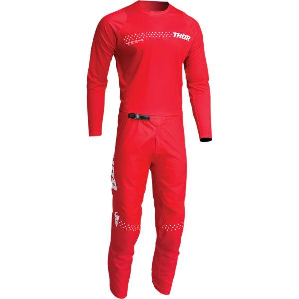Combo MX Enduro Thor Combo Tricou+Pantaloni Sector Minimal Red 2022