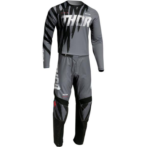 Combo MX Enduro Thor Combo Tricou+Pantaloni Sector Tear Gray/Black 2022
