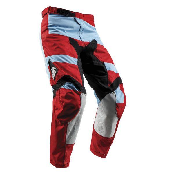 Pantaloni MX-Enduro Thor LICHIDARE STOC Pantaloni Pulse Level Powder Blue/Red S8