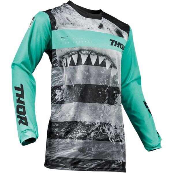 Thor LICHIDARE STOC Tricou Pulse Savage Jaws Mint/Black S9 Copii