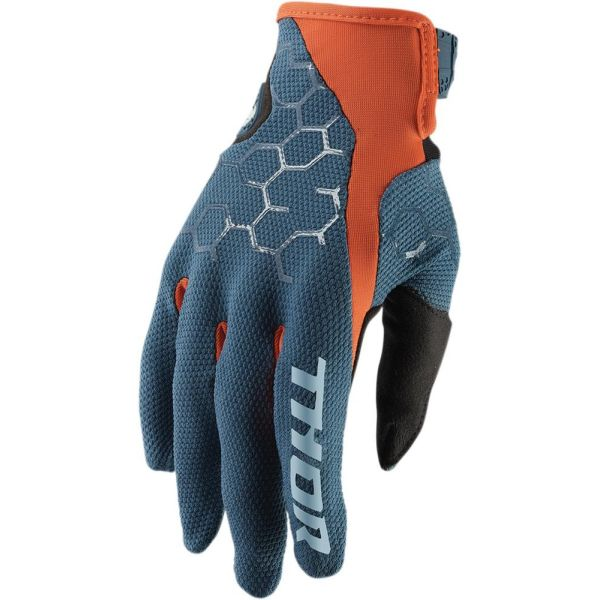 Manusi MX-Enduro Thor Manusi Draft Slate/Red Orange S9