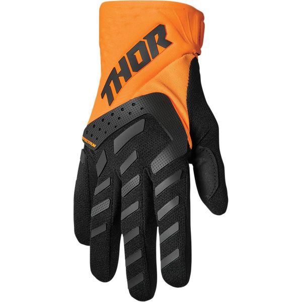 Manusi MX-Enduro Copii Thor Manusi Moto MX Copii Spectrum Black/Orange 2022