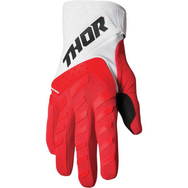 Manusi MX-Enduro Copii Thor Manusi Moto MX Copii Spectrum Red/White 2022