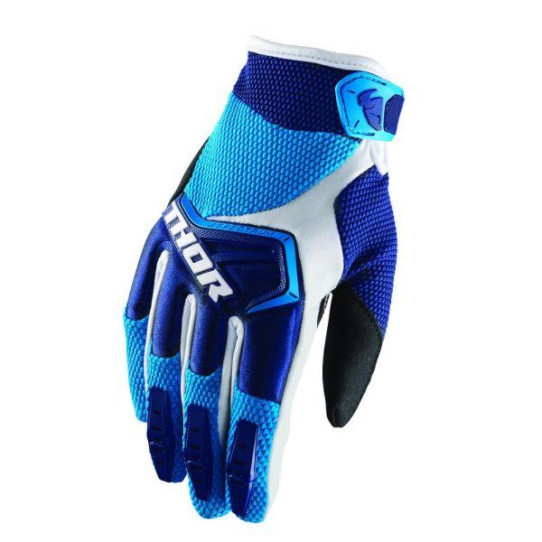 Manusi MX-Enduro Copii Thor LICHIDARE STOC Manusi Spectrum S8 White/Blue Copii
