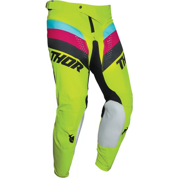 Pantaloni MX-Enduro Thor Pantaloni Pulse Racer Multicolor Galben 2020
