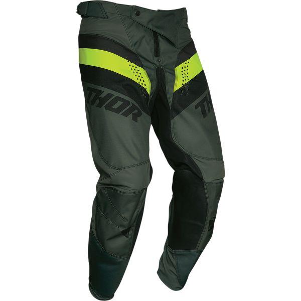 Pantaloni MX-Enduro Thor Pantaloni Pulse Racer Multicolor Verde Army 2020