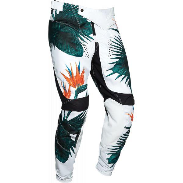 Pantaloni MX-Enduro Thor Pantaloni Pulse Tropix Multicolor Verde 2020
