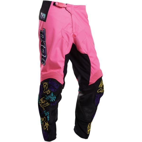 Pantaloni MX-Enduro Copii Thor Pantaloni Copii Pulse Fast Boyz S20 Pink