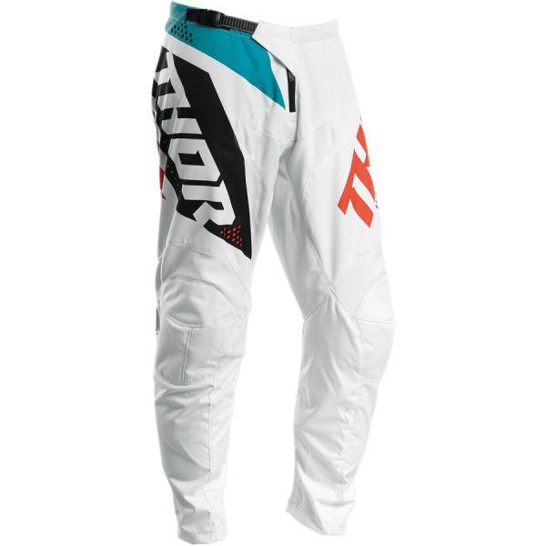 Pantaloni MX-Enduro Copii Thor Pantaloni Copii Sector Blade S20 White/Aqua