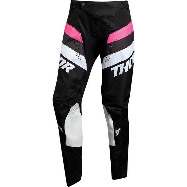 Pantaloni MX-Enduro Thor Pantaloni Dama Pulse Racer Negru/Roz 2020