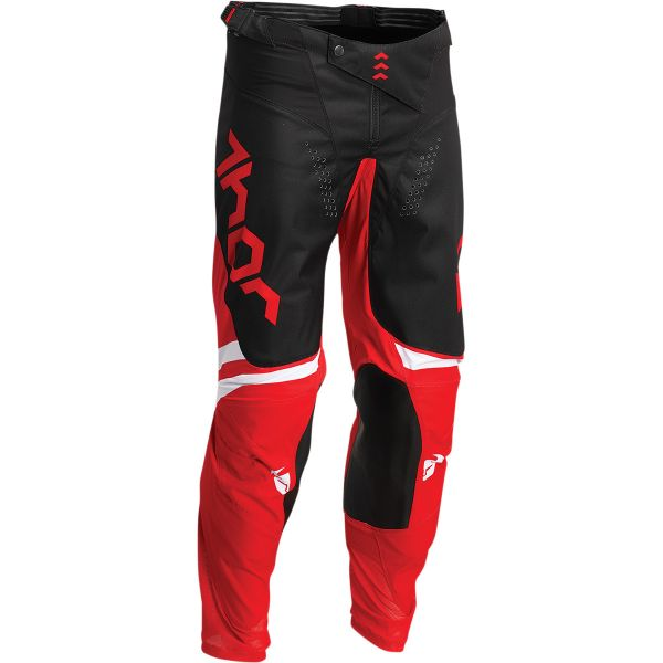 Pantaloni MX-Enduro Copii Thor Pantaloni Moto MX Copii Pulse Cube Red/White 2022