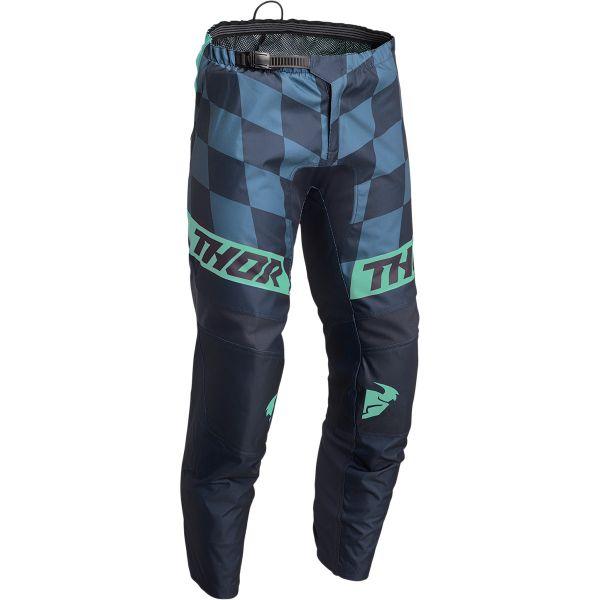 Pantaloni MX-Enduro Copii Thor Pantaloni Moto MX Copii Sector Birdrock Midnight/Mint 2022