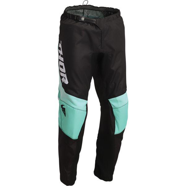 Pantaloni MX-Enduro Copii Thor Pantaloni Moto MX Copii Sector Chev Black/Mint 2022