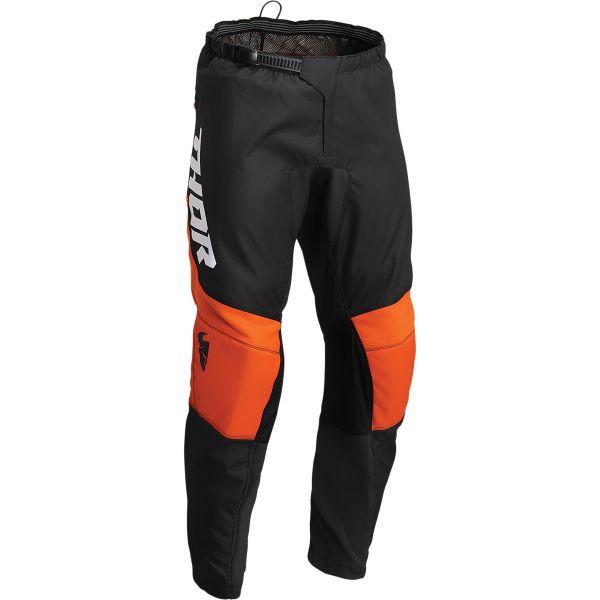 Pantaloni MX-Enduro Copii Thor Pantaloni Moto MX Copii Sector Chev Charcoal/Red Orange 2022