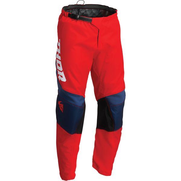Pantaloni MX-Enduro Copii Thor Pantaloni Moto MX Copii Sector Chev Red/Navy 2022