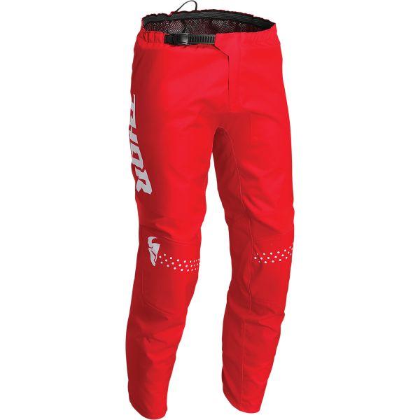 Pantaloni MX-Enduro Copii Thor Pantaloni Moto MX Copii Sector Minimal Red 2022
