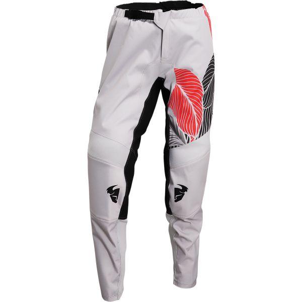 Pantaloni MX-Enduro Thor Pantaloni Moto MX Dama Sector Urth Light Gray/Fire Coral 2022