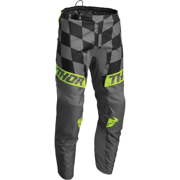 Pantaloni MX-Enduro Thor Pantaloni Moto MX Sector Birdrock Gray/Acid 2022