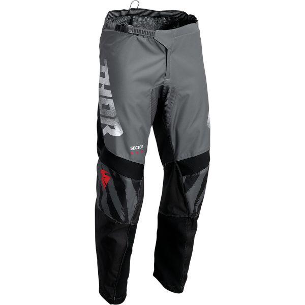Pantaloni MX-Enduro Thor Pantaloni Moto MX Sector Tear Gray/Black 2022