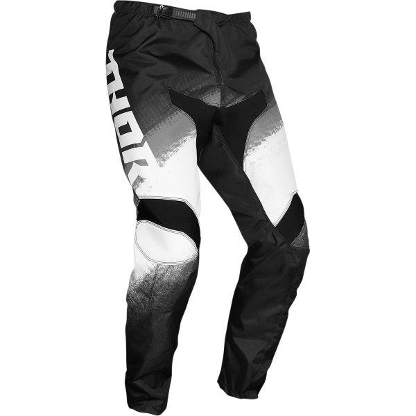 Pantaloni MX-Enduro Thor Pantaloni MX Sector Vapor Alb/Negru 2020